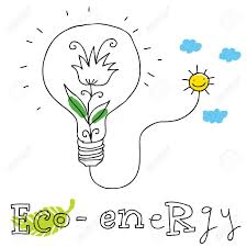 eco energy ecology and environment protection vector drawing