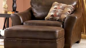 Best Leather Armchair Best Popular Leather Chair With Ottoman With Regard To Home