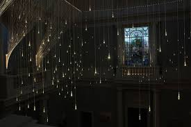 Lighting Curtains Bruce Munro Light Shower Light Installation Raining Glass Bulbs