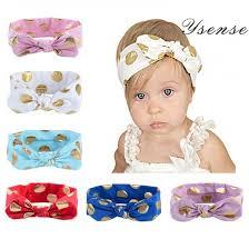 bow headbands ysense baby girl multicolor hair hoops headbands solid bunny