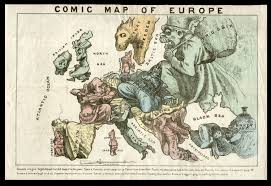 Turkey Map Europe by Biting Caricature Map Of Europe Rare U0026 Antique Maps