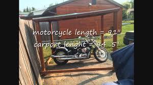 motorcycle carports shelter for the v stars youtube