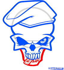 how to draw an army skull army by skulls pop