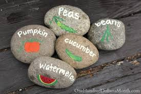 garden markers diy garden markers using painted rocks one hundred dollars a month