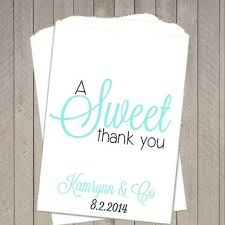 wedding treat bags 10 blue thank you wedding from thegalahouse on etsy