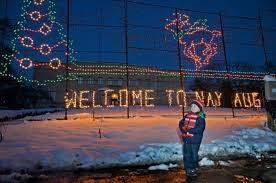 nay aug park christmas lights christmas lights return to nay aug park news the times tribune