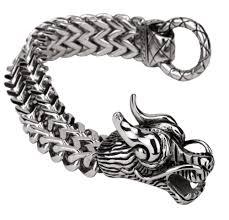 dragon bracelet jewelry images Men 39 s dragon bracelet chain stainless steel biker heavy jewelry jpg