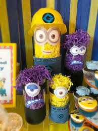 minion centerpieces minion sweet bar dean s minions save the day created by