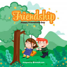 background friends fun swing vector free download