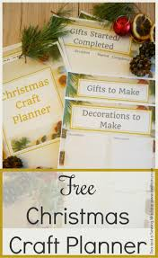 christmas craft planner tea and a sewing machine