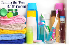 taming the teenage bathroom the organized mom