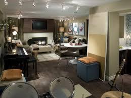 Basement Living Room Home Design Bedroom Man Cave Basement Rustic Decorating Inside