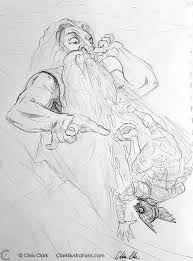 zeus creates a new god sketch drawing cartoon funny silly