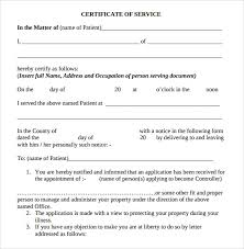 certificate of service template 10 download free documents in