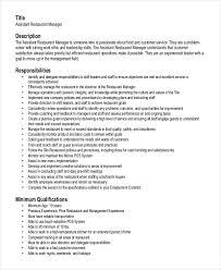 Resume For Fast Food Resume For Restaurant Manager Haadyaooverbayresort Com