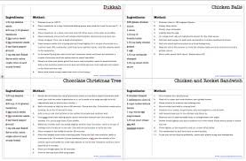 recipe card template and recipe booklet planning with kids