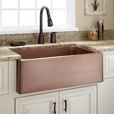Brushed Bronze Kitchen Faucet Kitchen Amazing Hammered Copper Kitchen Sink Undermount With
