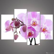 Modern Wall Art 2017 Cheap Abstract Modern Wall Painting Purple Pink Flower Home