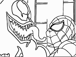 enchanting venom coloring pages printable agent of from spiderman