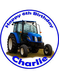 tractor cake topper tractor personalised edible cake topper 12