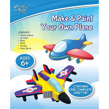 make u0026 paint your own plane by craft for kids u2013 daves deals