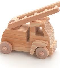 wood toy kit fire truck joann