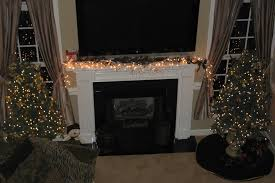 lighted garland for mantle 2646