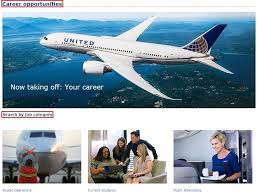 how to apply for united airlines jobs online at united com careers