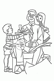 father u0027s day gift coloring page for kids happy father u0027s day