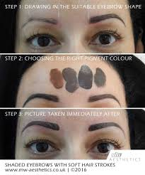Permanent Makeup Eyebrows Hair Stroke Step By Step Mw Aesthetics Permanent Makeup