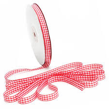 gingham ribbon practical 45m reel cut lengths gingham ribbon sewing crafts
