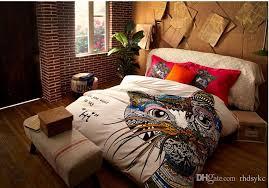 Giraffe Bed Set Fashion Comforter Sets German Style Colorful Cat Giraffe