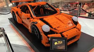 porsche gt3 rs orange full size lego porsche gt3 rs on display in stockholm autotrader ca