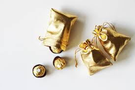 gold favor bags daye