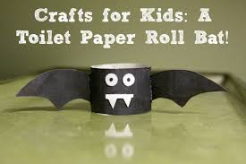 Paper Roll Crafts For Kids - crafts for kids a toilet paper roll bat crafting a green world