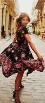 turquoise lane spanish inspired floral print summer dress calle