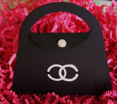 Baby Shower Barbie by Chanel Purse Invitation Chanel Inspired Coco Chanel Party