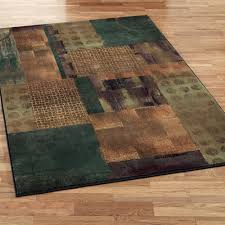 Brown And Turquoise Area Rugs Contempo Block Round Area Rugs