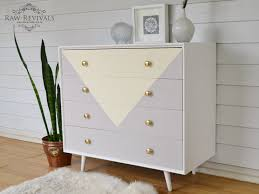 Retro 60s Bedroom Ideas Original 60s Chest Of Drawers Painted In Pastel Yellow And Grey