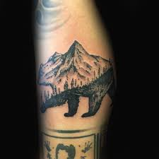 a simple mountain ca tattoo bear idea golfian com