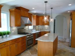 High Ceiling Kitchen by Craftsman Kitchen With Complex Granite U0026 Flush Light In Hinsdale