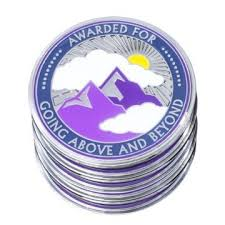 5 pack 1 75 quality award coins for going above and beyond