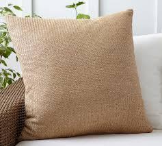 faux fiber indoor outdoor pillow pottery barn
