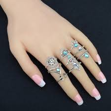 finger rings fashion images Fashion 9 pieces alloy circle round finger rings multiple sets of jpg