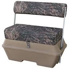 wise duck boat bench with cooler 204000 pontoon seats at