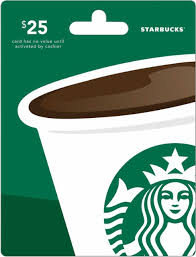 starbuck gift card deal starbucks 25 gift card green starbucks 25 best buy