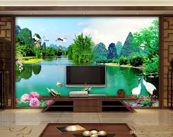 Living Room Tv by Luxury European Modern Landscape Water And Living Room Tv Wall