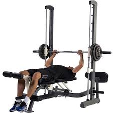 tunturi pure compact smith machine weight bench with folding