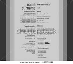 vector modern cv resume template stock vector 321524819 shutterstock