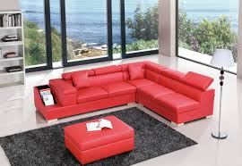Red Leather Sofa Sets Red Leather Sectional Sofa